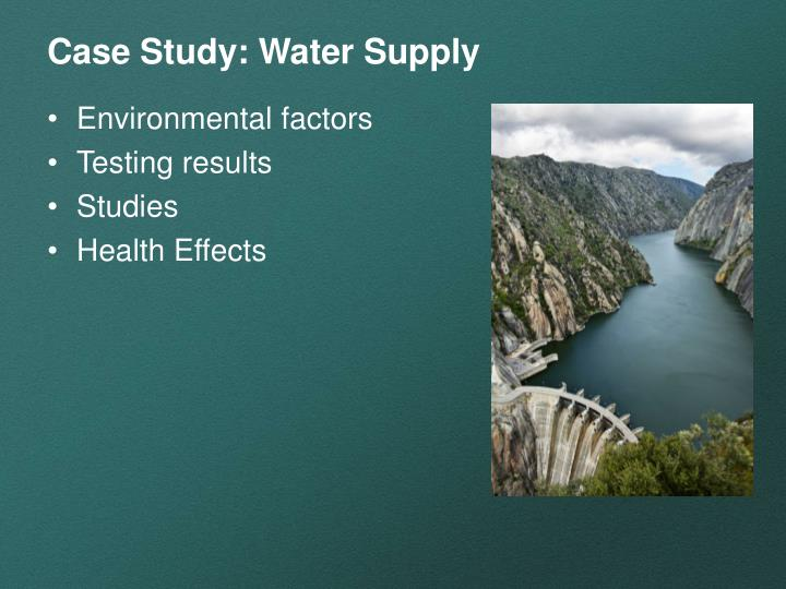 Case study water supply