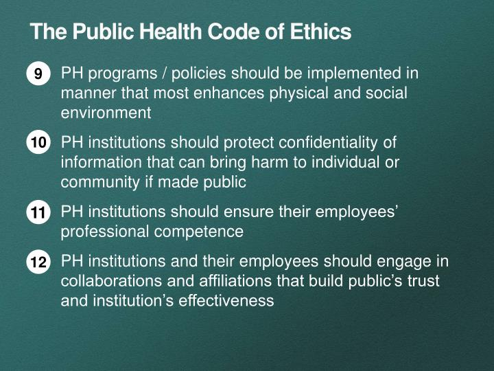 The Public Health Code of