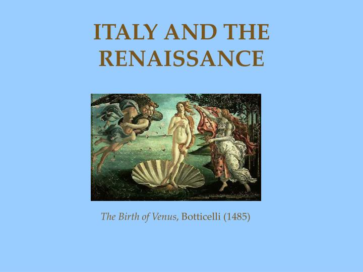 the birth of venus and the renaissance essay
