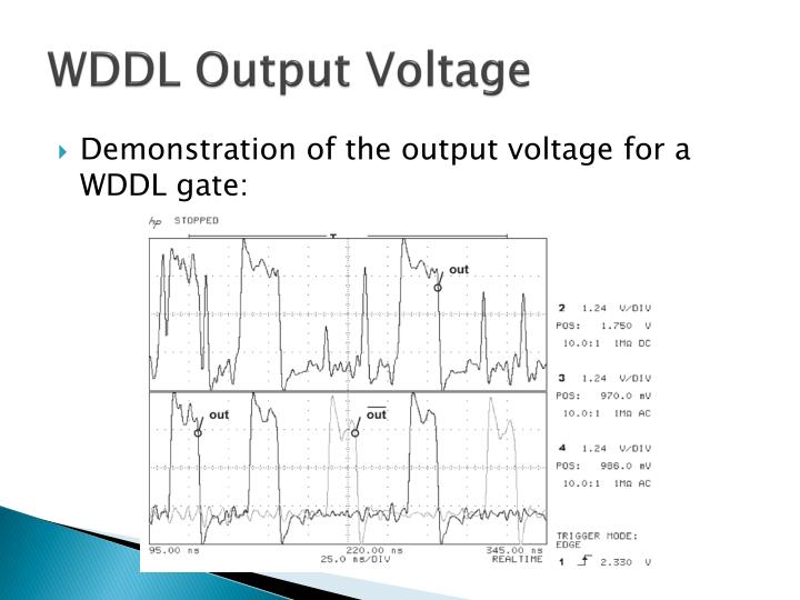 WDDL Output Voltage