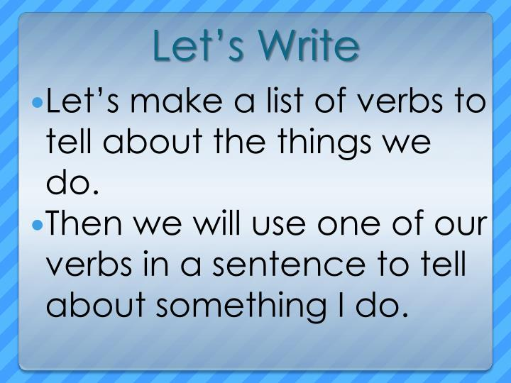 Let's Write