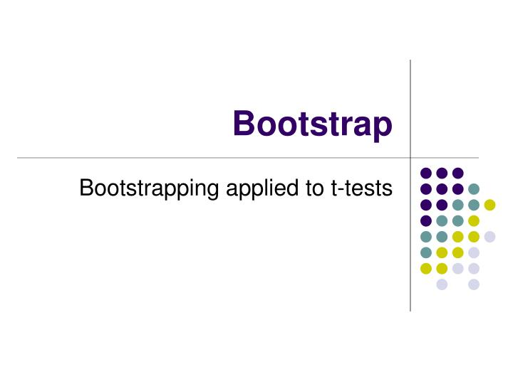 bootstrap n.