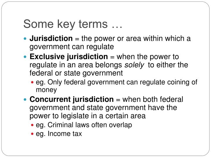 Some key terms …