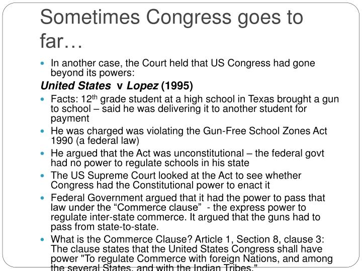 Sometimes Congress goes to far…