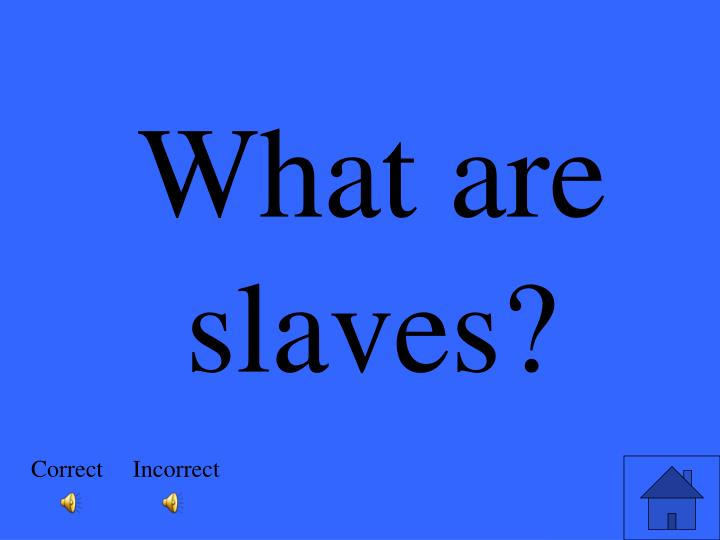 What are slaves?