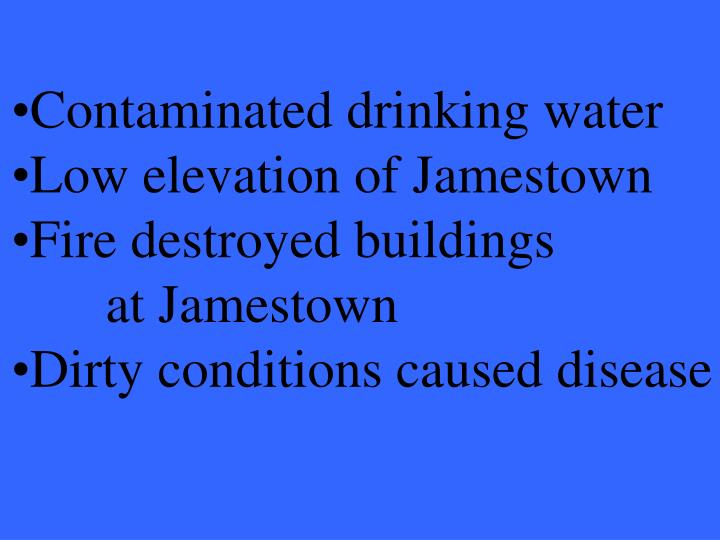 Contaminated drinking water