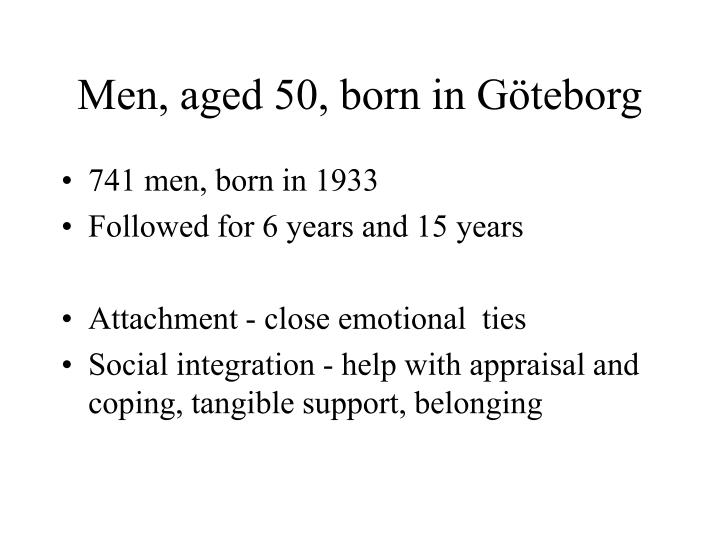 Men, aged 50, born in Göteborg