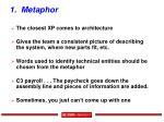 1 metaphor