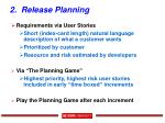 2 release planning