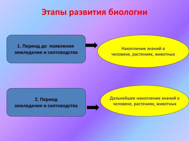Этапы развития биологии