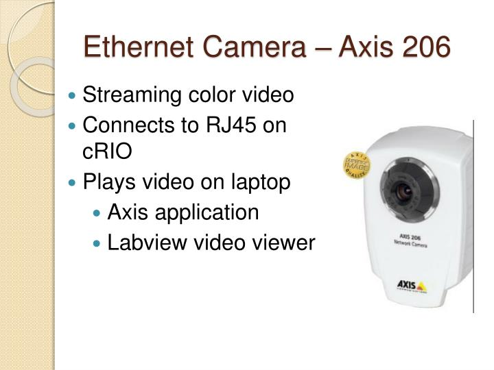 Ethernet Camera – Axis 206