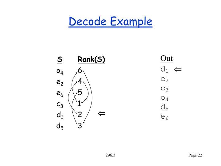 Decode Example