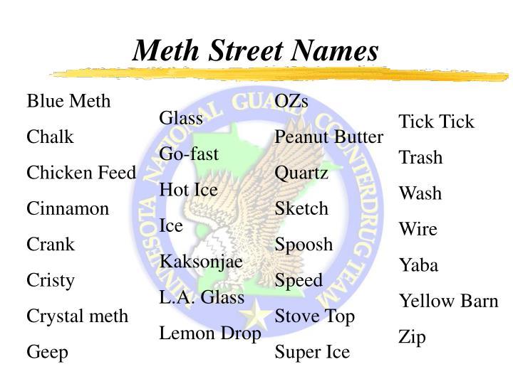 Meth Street Names