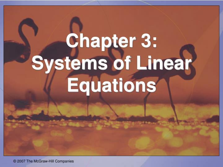 chapter 3 systems of linear equations n.