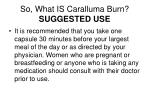 so what is caralluma burn suggested use
