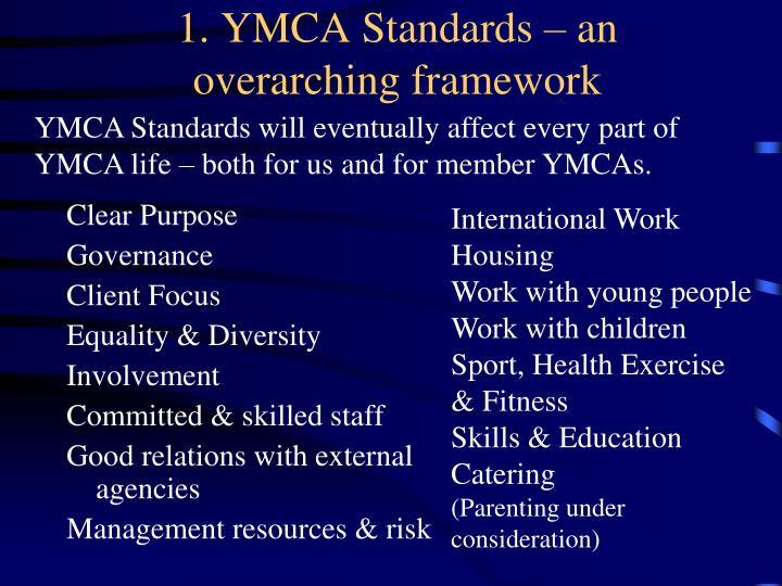 1. YMCA Standards – an overarching framework