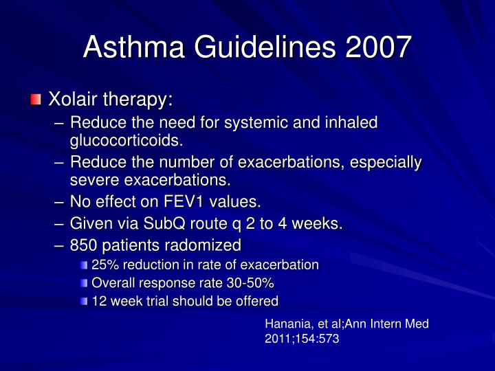 Asthma Guidelines 2007