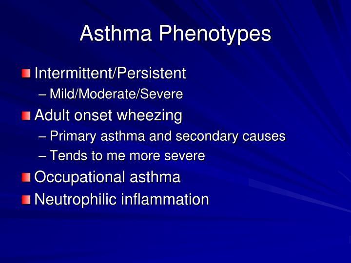 Asthma Phenotypes