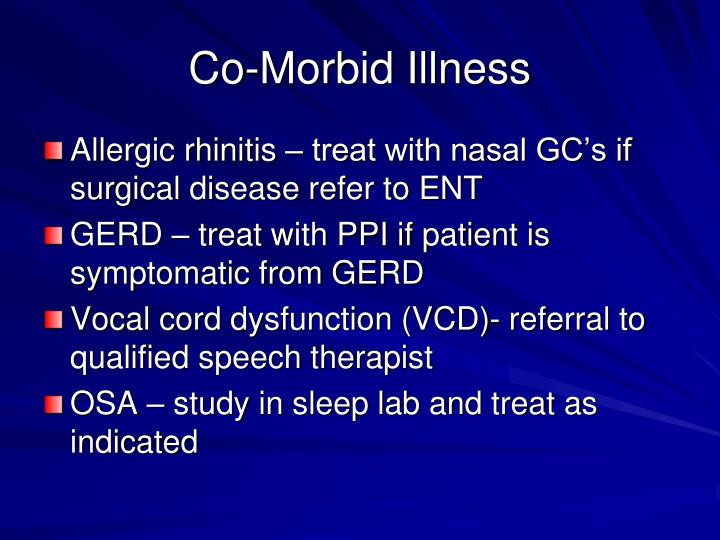 Co-Morbid Illness