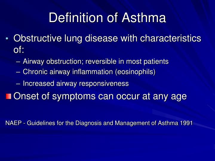 Definition of Asthma