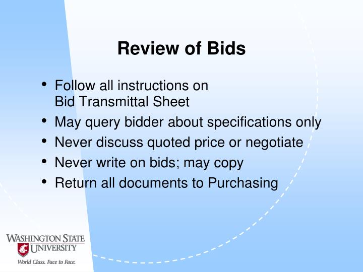 Review of Bids