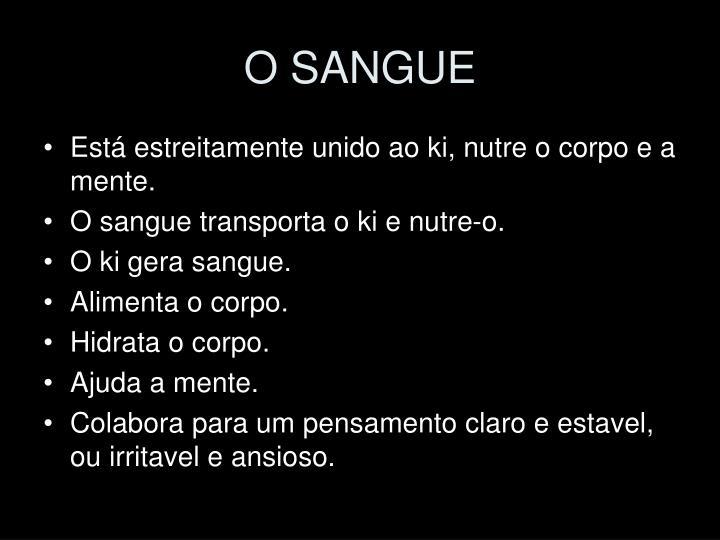 O SANGUE