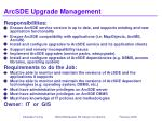arcsde upgrade management