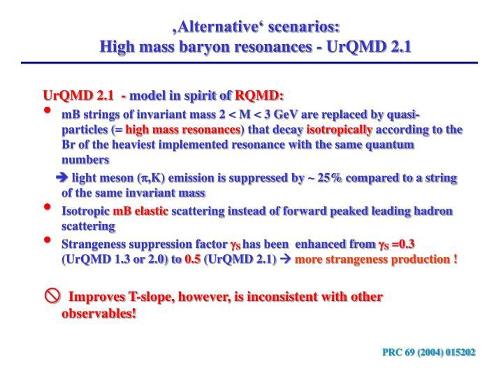 'Alternative' scenarios: