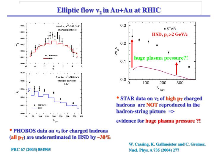 Elliptic flow v
