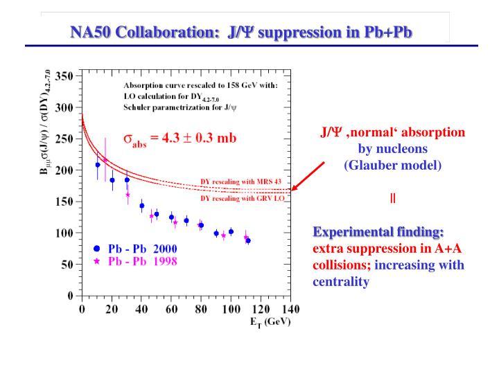 NA50 Collaboration:  J/