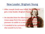 new leader brigham young