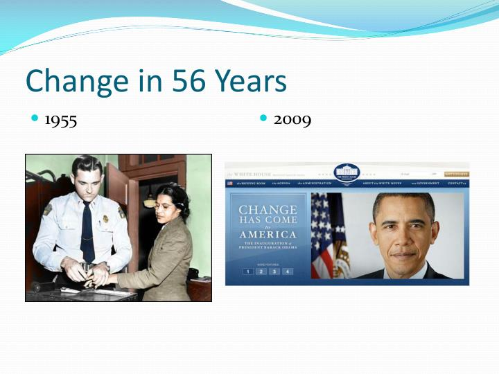 Change in 56 Years