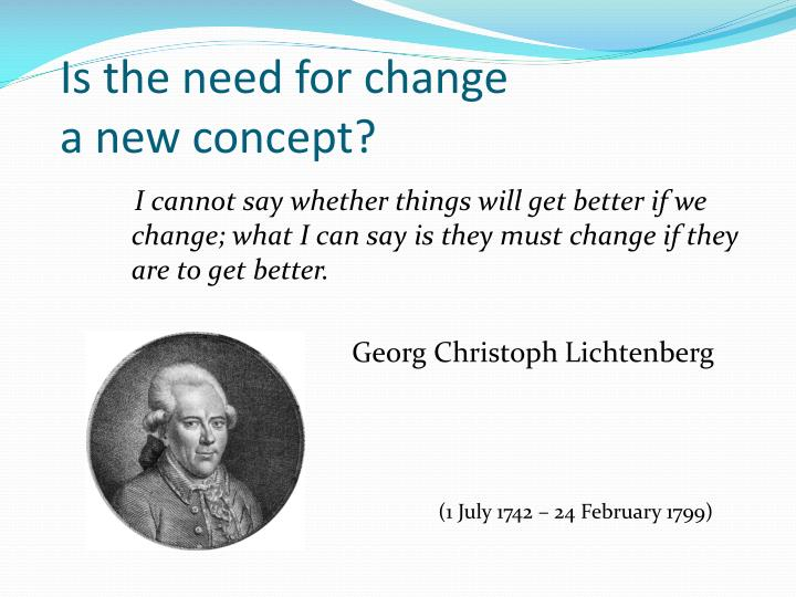 Is the need for change