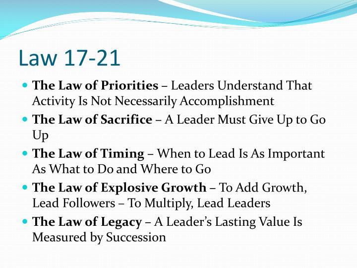 Law 17-21