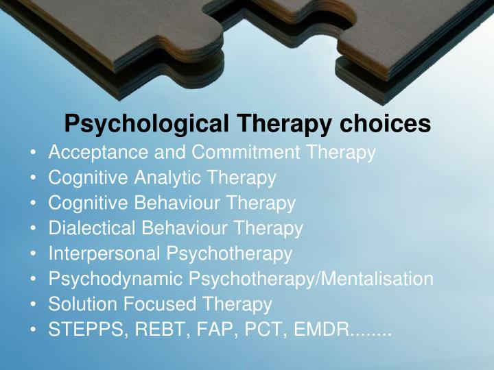 comparison between psychodynamic therapy and cognitive behaviour therapy Dr robert heller discusses the differences between rational emotive behavior therapy and cognitive behavior therapy.