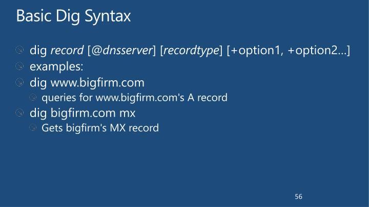 Basic Dig Syntax