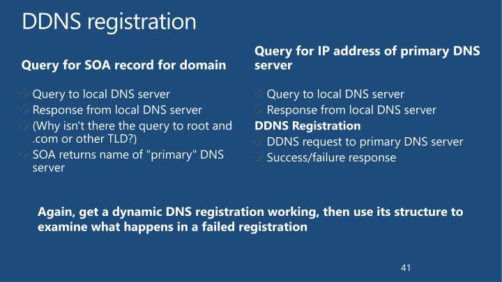 DDNS registration