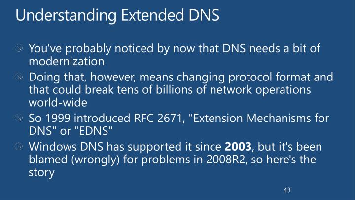 Understanding Extended DNS