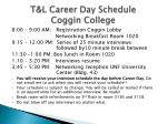 t l career day schedule coggin college