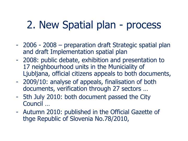 2. New Spatial plan - process