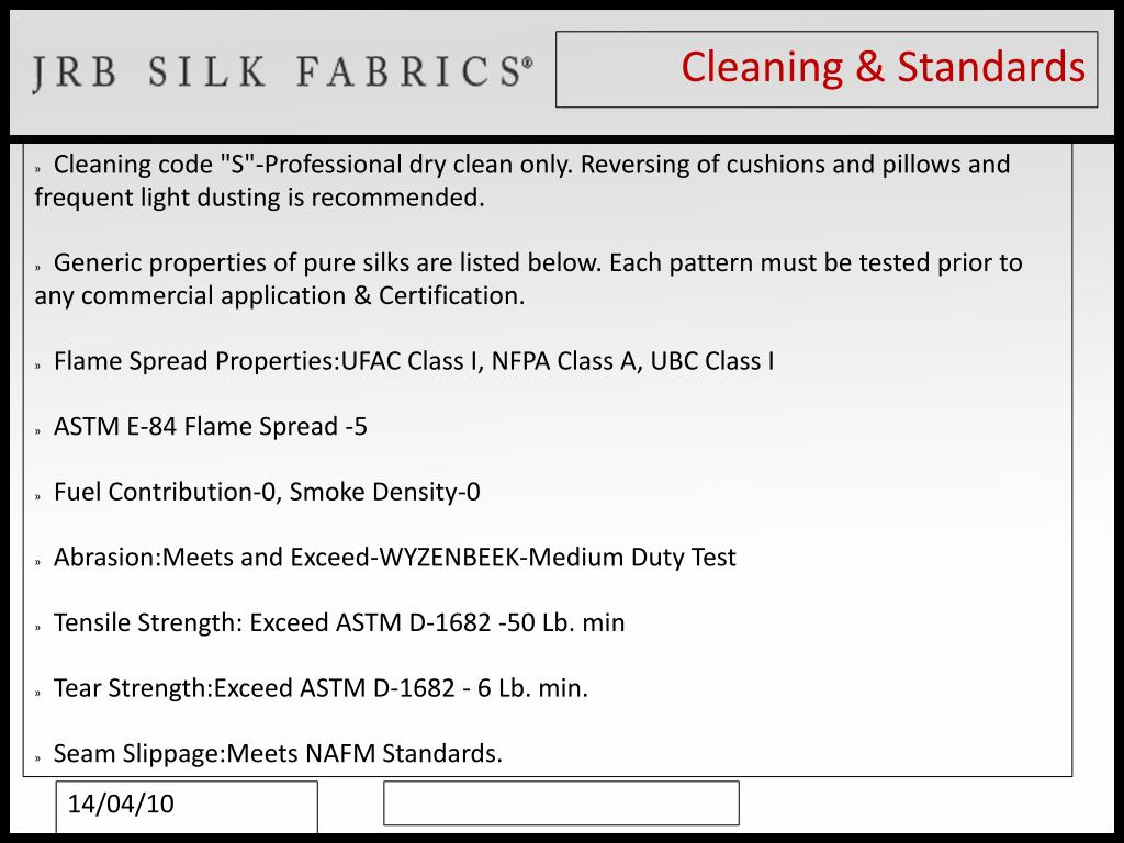 Cleaning & Standards