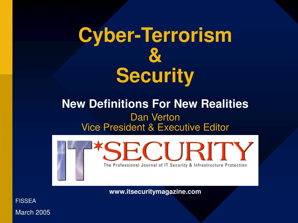 cyber terrorism security new definitions for new realities
