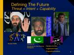 defining the future threat intent capability