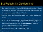 b 2 probability distributions16
