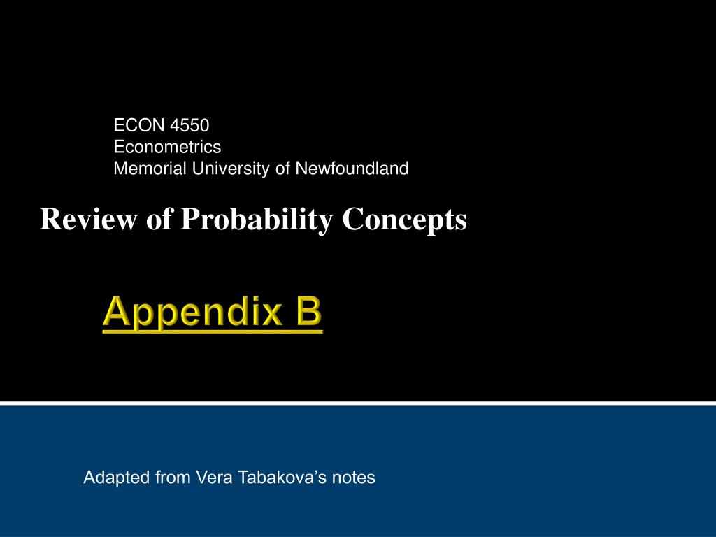 review of probability concepts l.