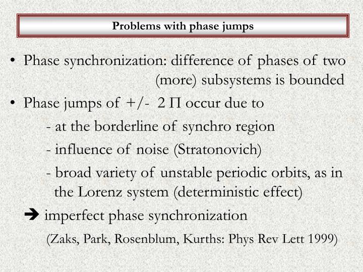 Problems with phase jumps