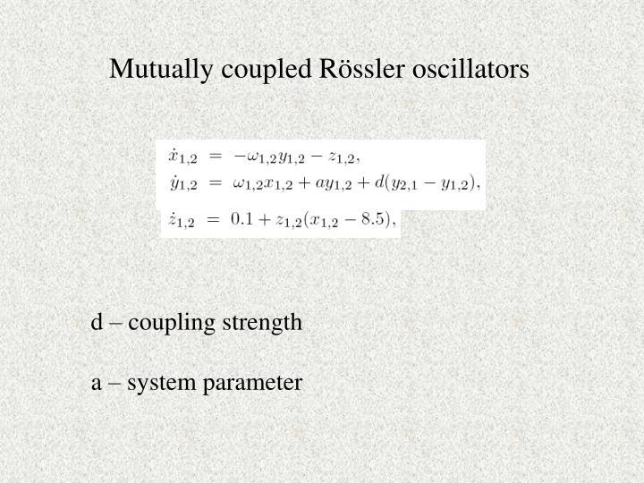 Mutually coupled Rössler oscillators