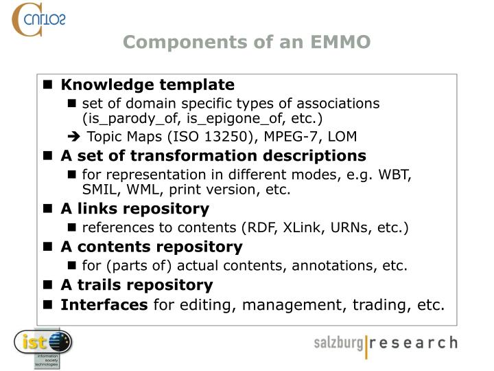 Components of an EMMO