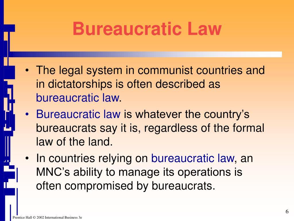 Bureaucratic Law