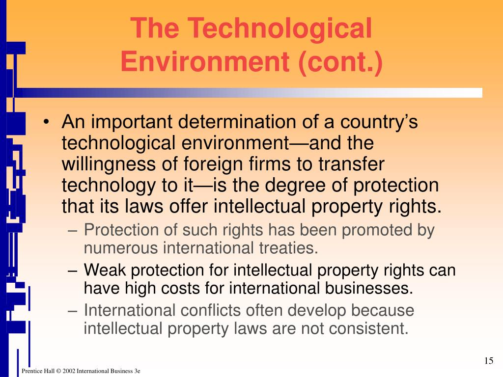 The Technological Environment (cont.)